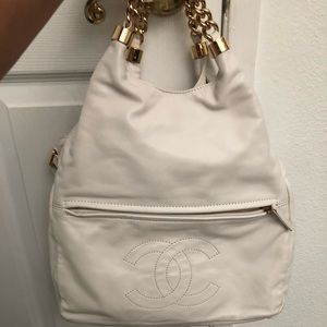 Chanel white handbag